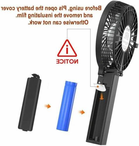 Handheld Powerful - Durable Fans Rechargeable Battery