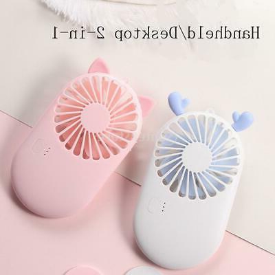 lovely mini fan usb rechargable cooling fan
