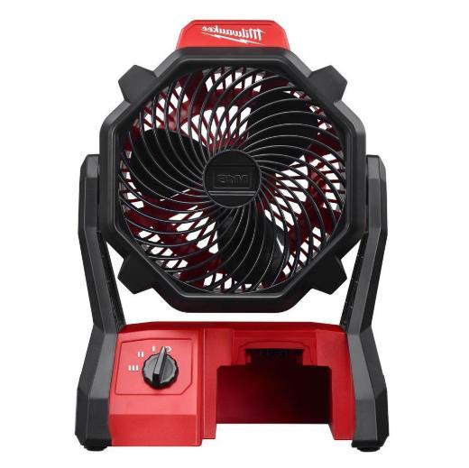 Milwaukee 0886-20- M18 Portable Cordless Jobsite Fan w/ AC A
