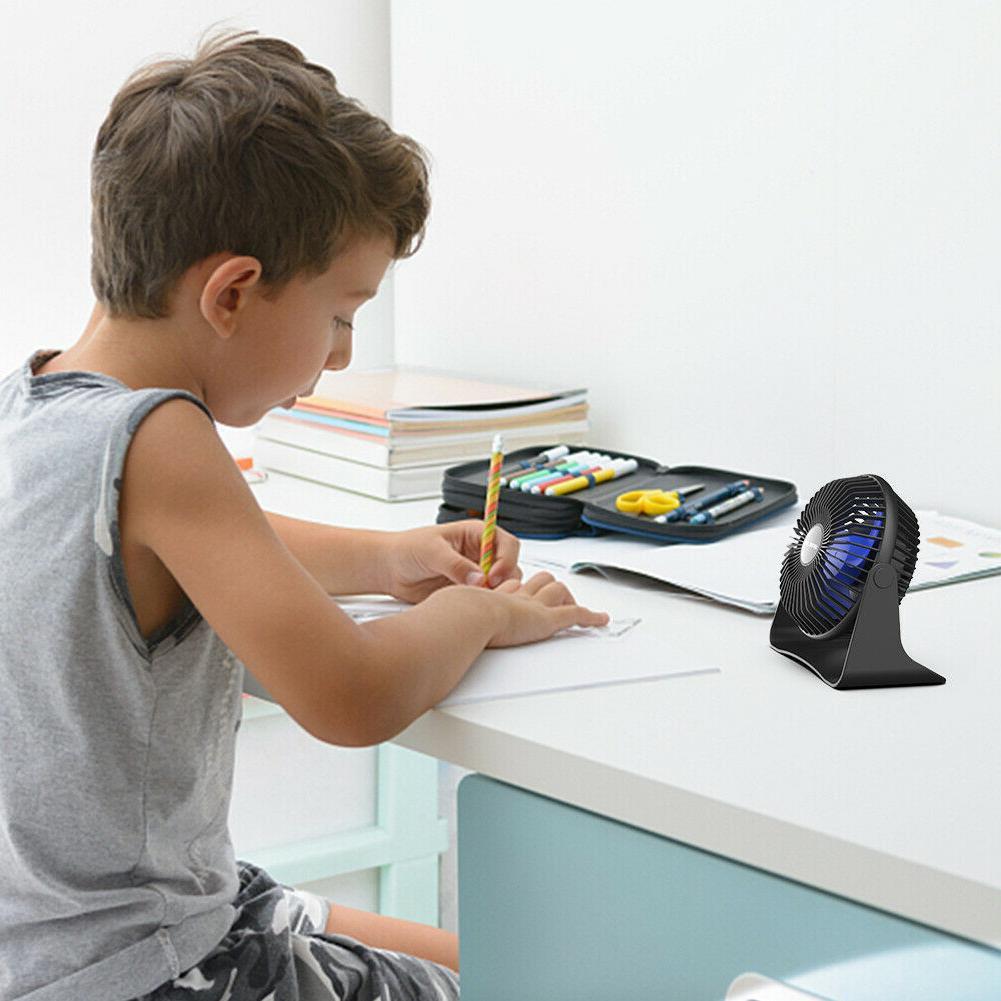Portable Desk Fan Adjustable Head 3.9 ft Cooling Fan