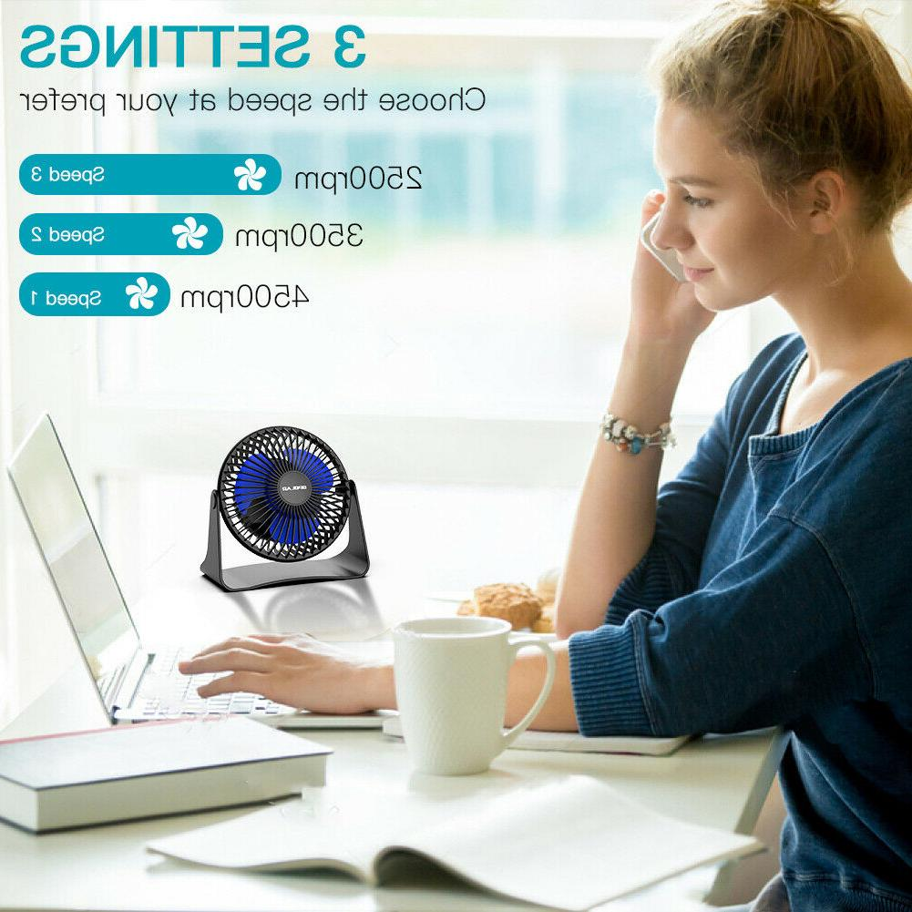 Portable Fan Adjustable Head 3.9 ft Cord Cooling Fan