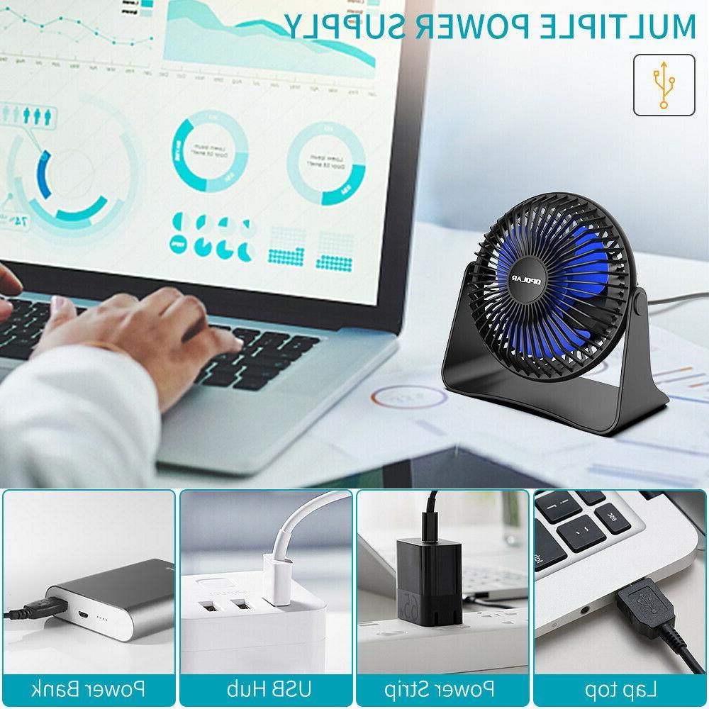 Portable Desk Table Adjustable Head 3-Speeds 3.9 ft Cord Cooling Fan