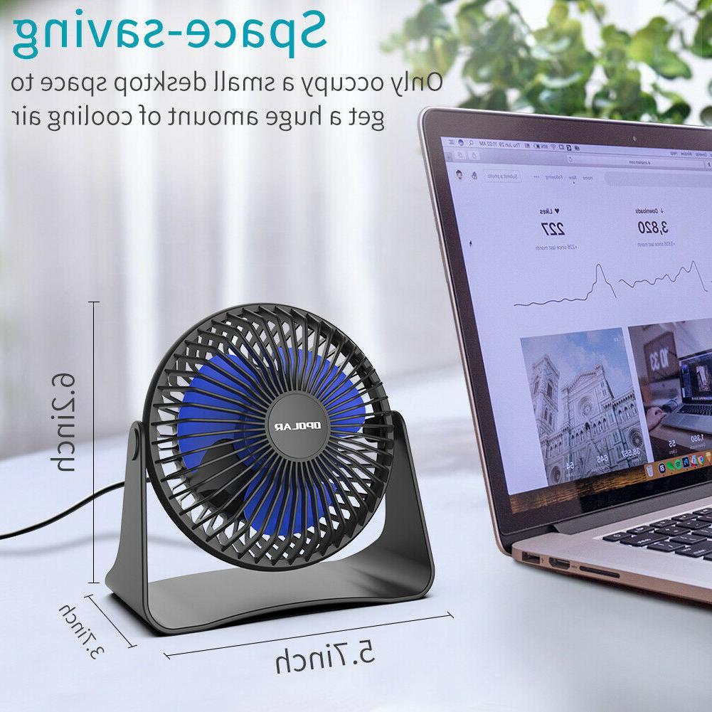 Portable Desk Adjustable Head 3-Speeds 3.9 Cord Cooling Fan