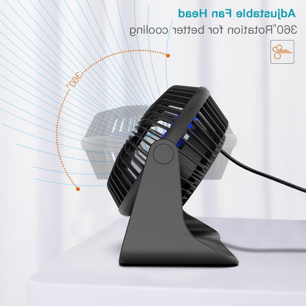 Portable Desk Fan Adjustable 3-Speeds 3.9 Cooling
