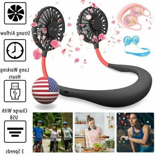 portable hanging neck sport fan lazy neckband