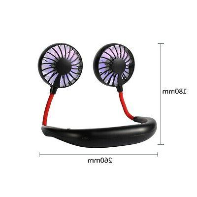 Portable Fan Lazy Neckband USB Rechargeable Personal Fan-USA