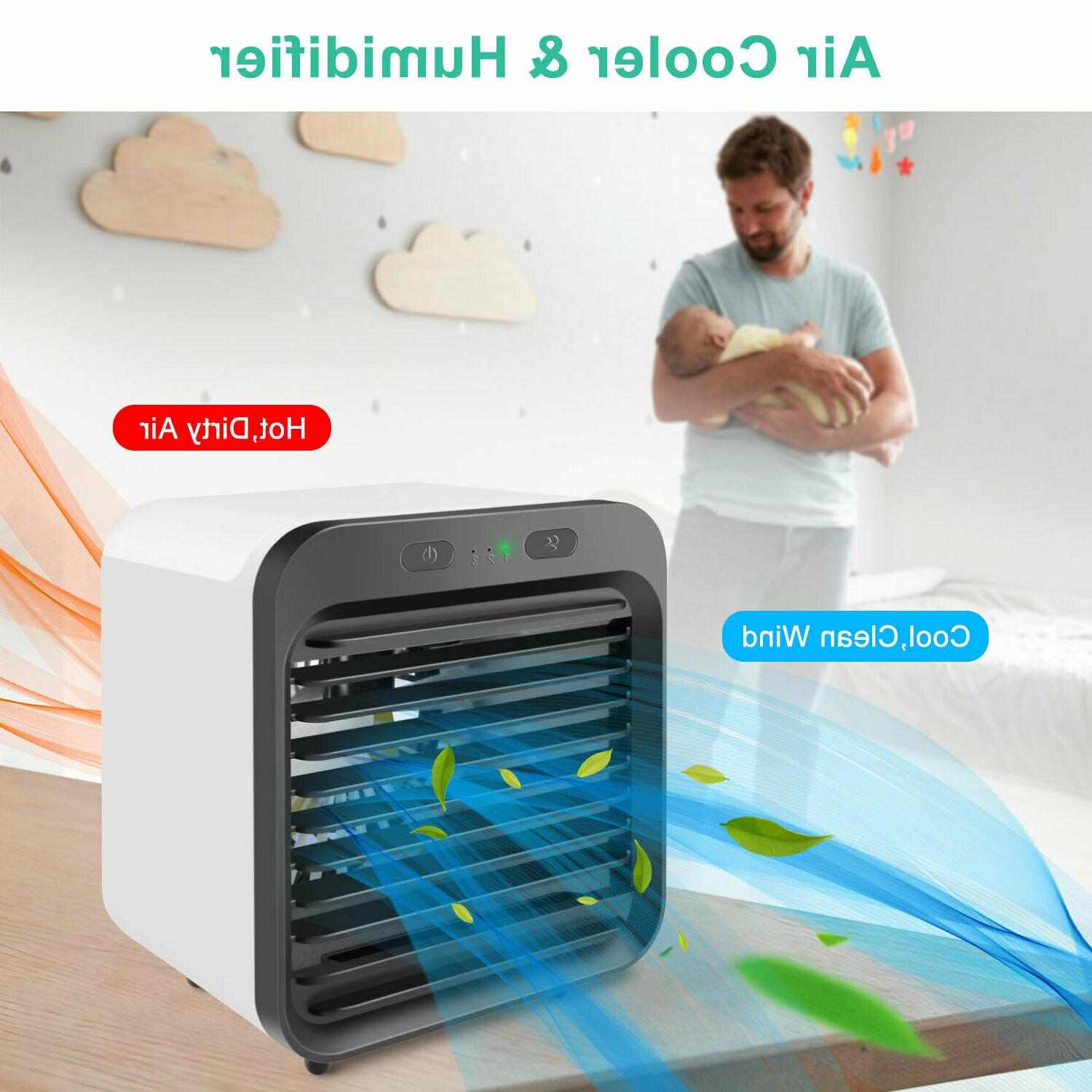 Summer Air Mini Conditioner Cooling Fan Humidifier