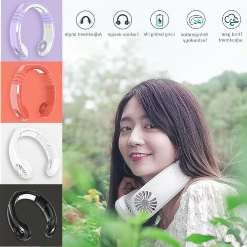 portable usb rechargeable mini neck wearable cooling