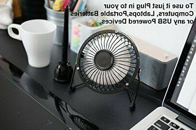 T-Fan Mini USB Desk Personal Fan USB Metal Body