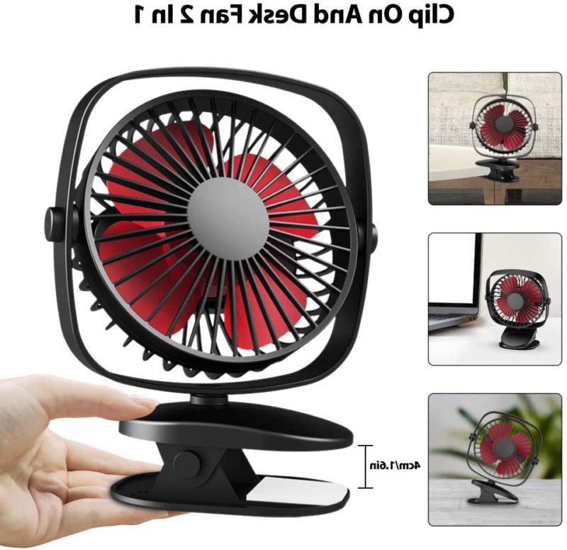VersionTECH. Clip on Fan, Mini Personal Fan