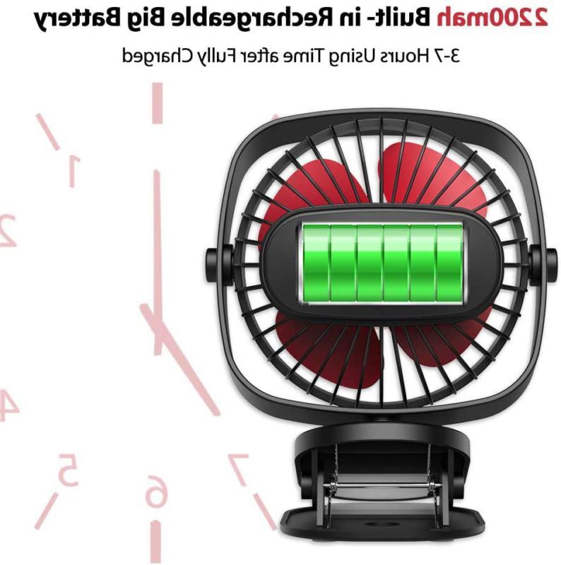 VersionTECH. Clip Fan, Mini Personal Desk Fan USB