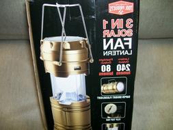Lantern,  Tool Products 3 in 1 Solar Fan Lantern