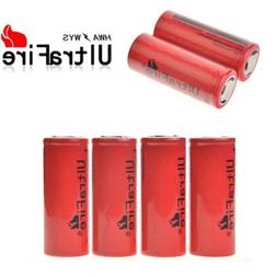 Lot of 1-4pcs 26650 3.7V Rechargeable Li-ion batteries for F
