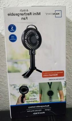 Mainstay Rechargeable Fan in black