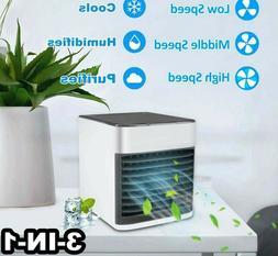 Mini Air Conditioner Portable Air Purifier LED USB Rechargea