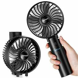 Mini Handheld Fan with Rechargeable Power Bank 3 Speeds Fold