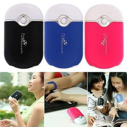 Mini Handheld Hand Desk USB Fan Portable Rechargeable Air Co