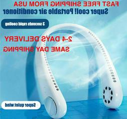 Neck Fan Portable Personal Cooling Hanging Battery AC Wearab
