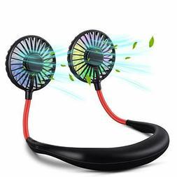 XINBAOHONG Neck Fan Portable USB Rechargeable LED Headphone