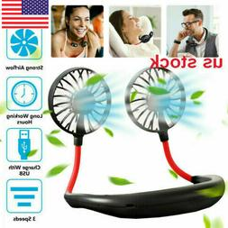 Neck Fan Rechargeable USB Hand Free Fans For Aromatherapy Ou