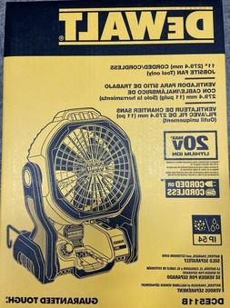 New Dewalt DCE511B Jobsite Fan Brand New in Box
