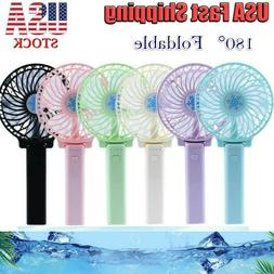 New Portable USB Rechargeable Foldable Fan Mini Handy Fan Co