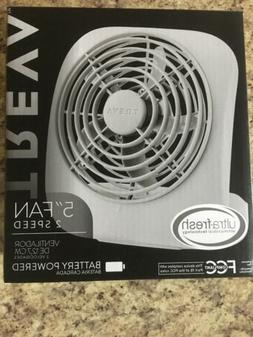 """O 2 Cool 5"""" Battery Operated Portable Small Desk Fan Recharg"""