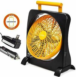 O2COOL 10-Inch Battery Operated Fan - Portable with Internal