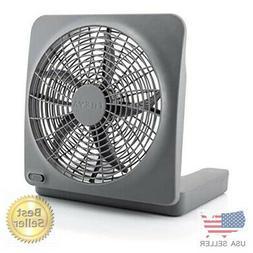 O2COOL 10-Inch Standard Base Personal Fan, Universal, Gray,