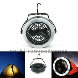 Outdoor Camping Portable USB Rechargeable LED Fan Light Hang