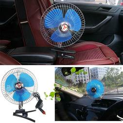 Portable 25W 8in Car Truck Oscillating Clip-on Air Fan Stron
