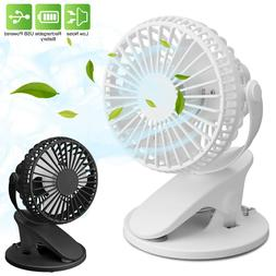 Portable Adjustable Clip Fan Cooling Mini USB Rechargeable D