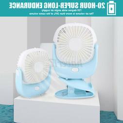 Portable Fan Rechargeable 360° Rotation Clip Mini USB Fan D