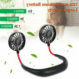 Portable Fans USB Rechargeable Neckband Sport Fan Neck Hangi