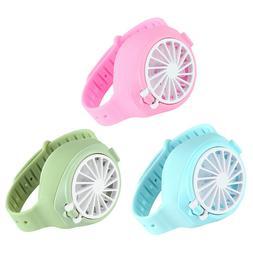 Portable Handheld Watch Shape Fan USB Rechargeable Mini Elec