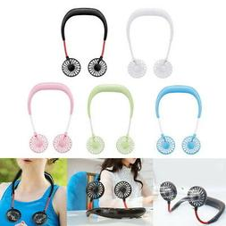 Portable Hands-Free Hanging Neck Cooler Mini Fan for Outdoor