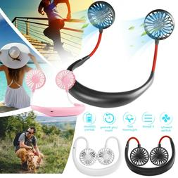 Portable Hanging Neck Fan Lazy Neckband USB Rechargeable Per