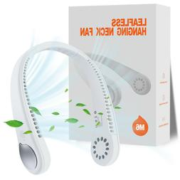 Portable Leafless Neck Hanging Fan Lazy Neckband USB 2in1 Co