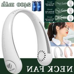 Portable Mini USB Neck Fan Rechargeable Bladeless Fans Hands