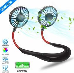 Portable Neck Fan, Hands Free Personal Sports Fan,USB Rechar