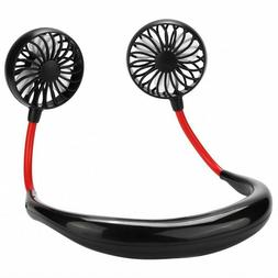 Portable Rechargeable Adjusted Neckband Neck Hanging Fan Per