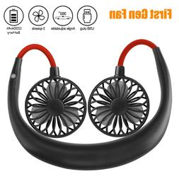 Portable Rechargeable Necklace Fan 360 Hands Free Neck Fan D