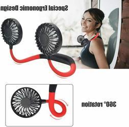 Portable Rechargeable Necklace Fan 360 - Hands Free Neck Fan