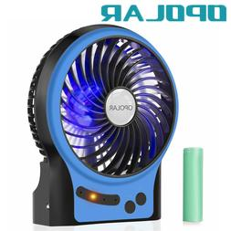 OPOLAR Portable Travel Mini Camping Fan,Rechargeable&USB Han
