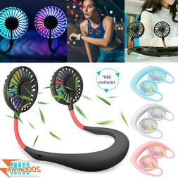 Portable Rechargeable Neckband Neck Hanging Dual Cooling Min