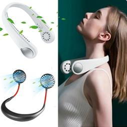 Portable USB Rechargeable Neckband Lazy Fan Neck Hanging Air
