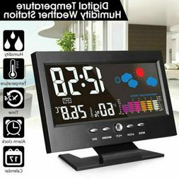Digital LCD Indoor & Outdoor Clock Weather Station Calendar