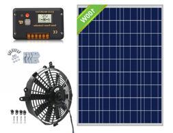 Powerful 80W 12 inch Solar Attic Fan with 100W Solar Panel,V