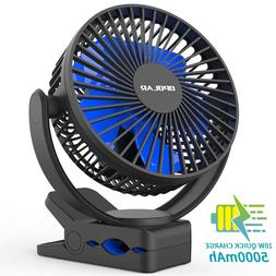 OPOLAR 360 Degree Rotation Rechargeable Cooling Fan Clip on