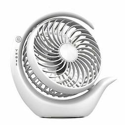 Rechargeable Battery Operated Fan with 3 speeds, Strong Wind